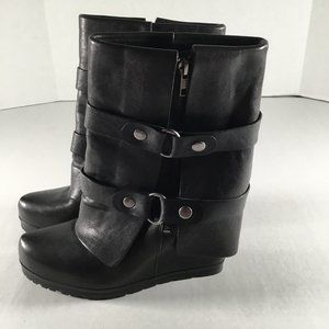 Vera Wang Lavender Women's Black Leather Boots
